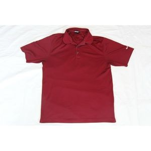 M BURGUNDY NIKE DRI FIT UV POLO